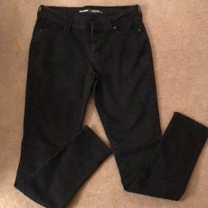 Old Navy Mid-rise black skinny jeans Sz 10 Long